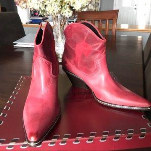 Amazing Donald J. Pliner red cowboy boots